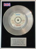 "MANFRED MANN  -7"" Platinum Disc- BLINDED BY THE LIGHT"